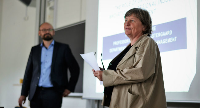 Christian R. Østergaard and Head of Department Birgitte Gregersen