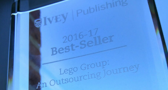 Dmitrij Slepniov on the Ivey Publishing Best Seller List