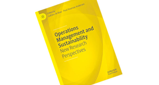 New book: Operations Management and Sustainability. New Research Perspectives